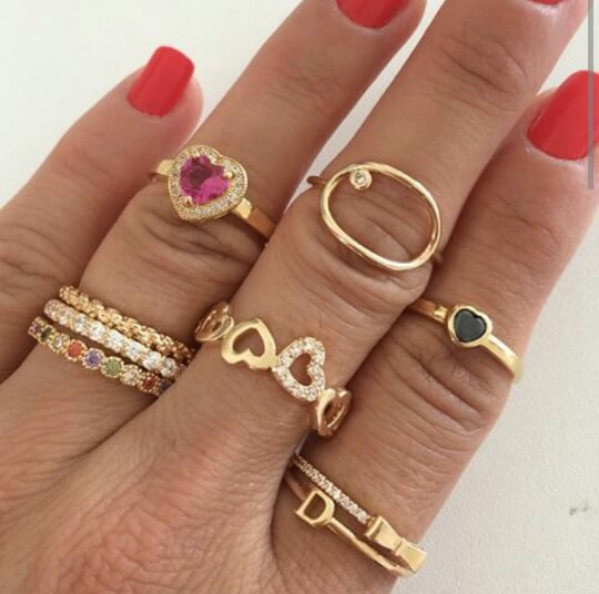 Fashion Glamour Heart In Love Instagram Luxury Nails Others Party Pretty Red Rings