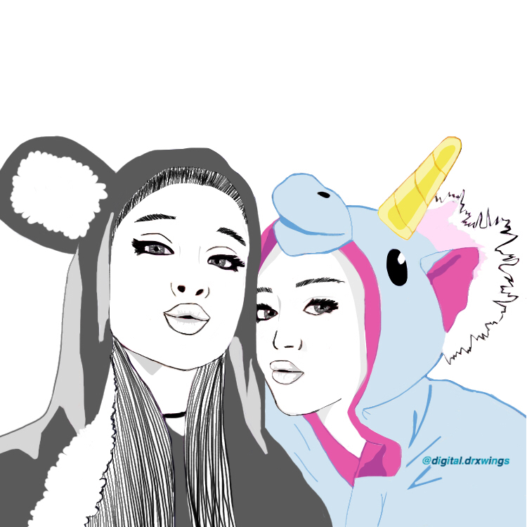Ariana Grande Beauty Best Friends Doodle Drawing Grunge Love