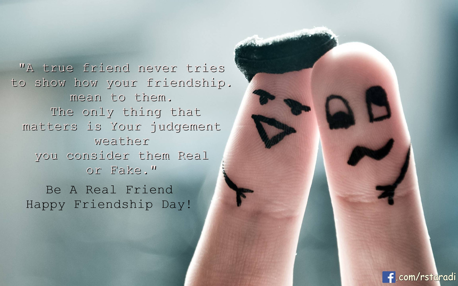 fake, fingers, friends and friendship