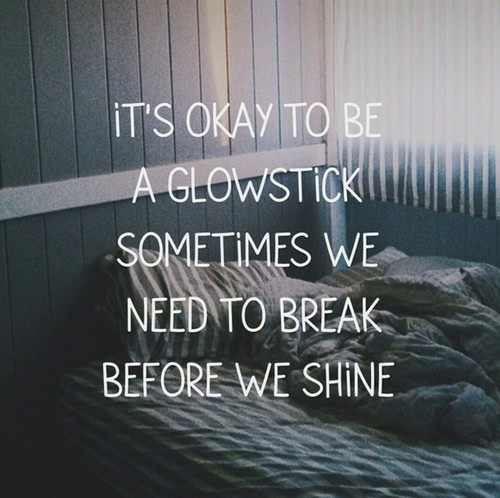 depressing, feelings, glowstick and life
