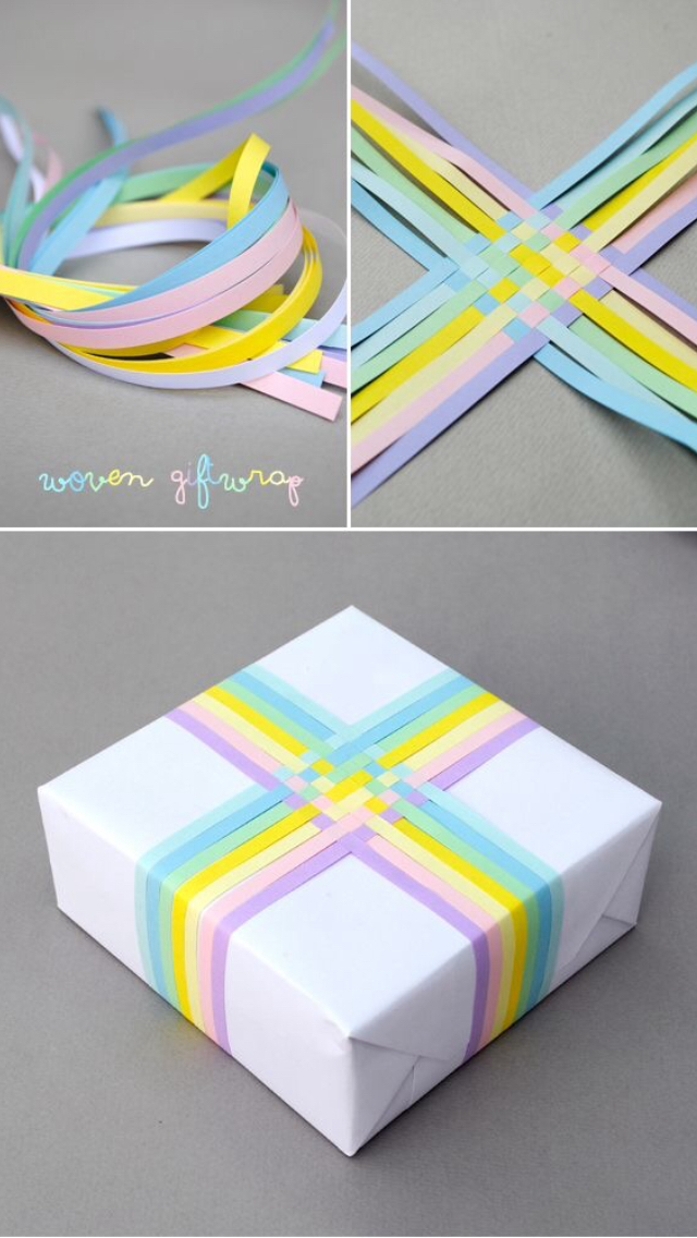 Birthday Colours Cute Diy Do It Yourself Easy Gift Ideas Papper Present White