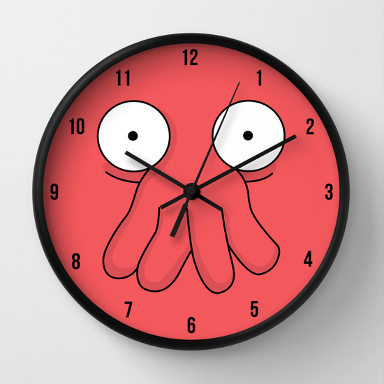 clock, crab, doctor, futurama, red, time, crustacean, dr., zoidbergy