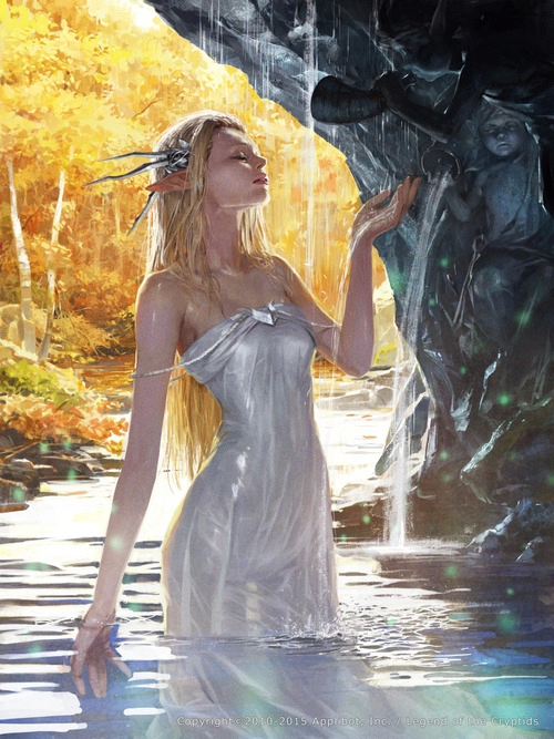 Fantasy woman water