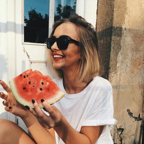 black chic food girl hair hipster nails sunglasses