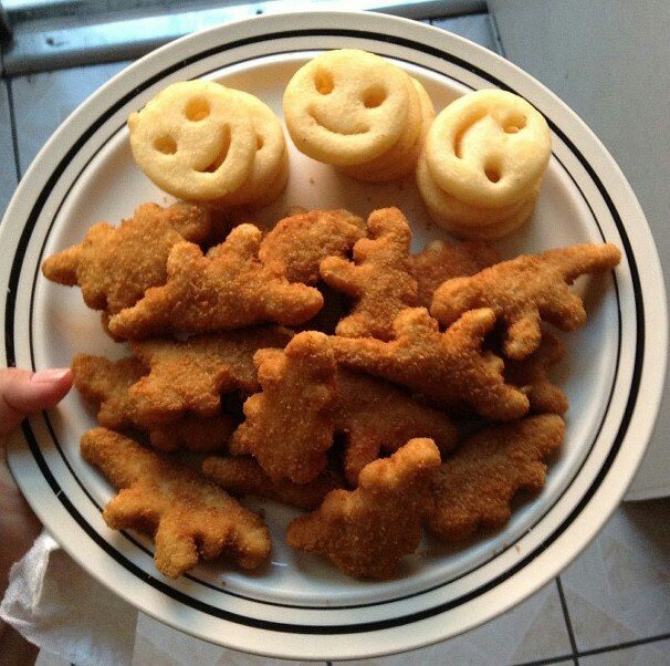 chicken nuggets, french fries, fries, nuggets, smiley, smiley friefries
