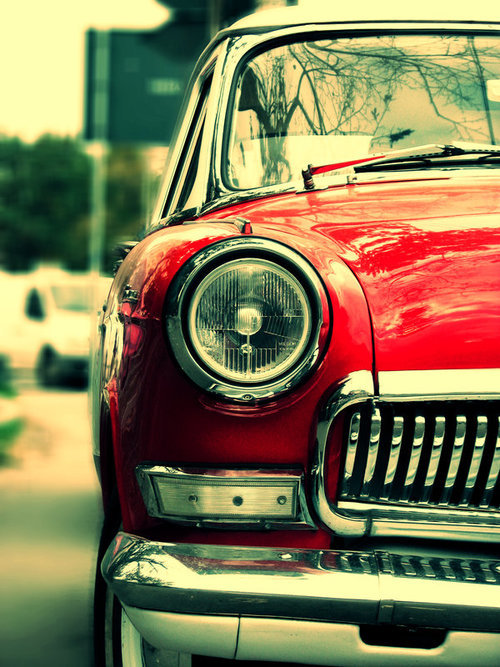 beautiful, car, old car, photography, red, retro, vintage