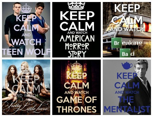 american horror story, breaking bad and keep calm