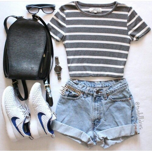 casual, nike, shorts and casual clothes