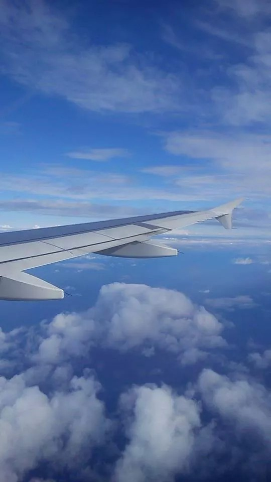 air, airplane, beautiful and blue