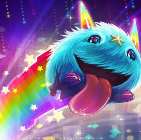 colors, league of legends, rainbow, poro, poro lol
