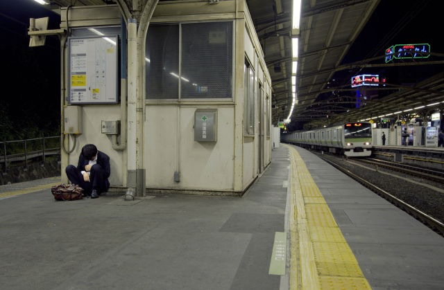 aesthetic, alternative, beautiful, grunge, header, pale, tired, train station