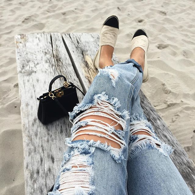 beach, black, black and white and chanel