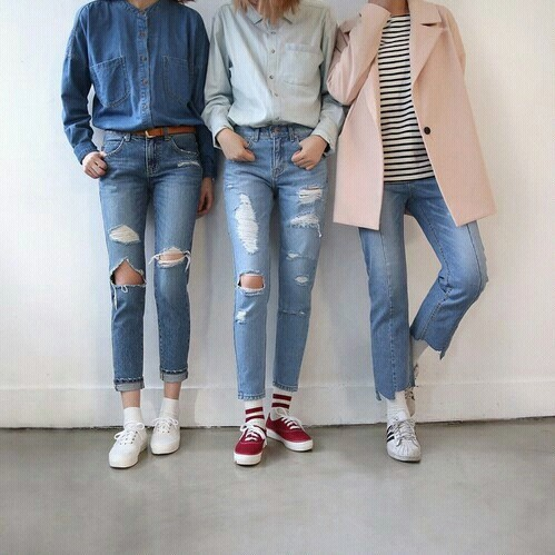 Casual Look Grunge Jeans Outfits Vans Daily Outfits