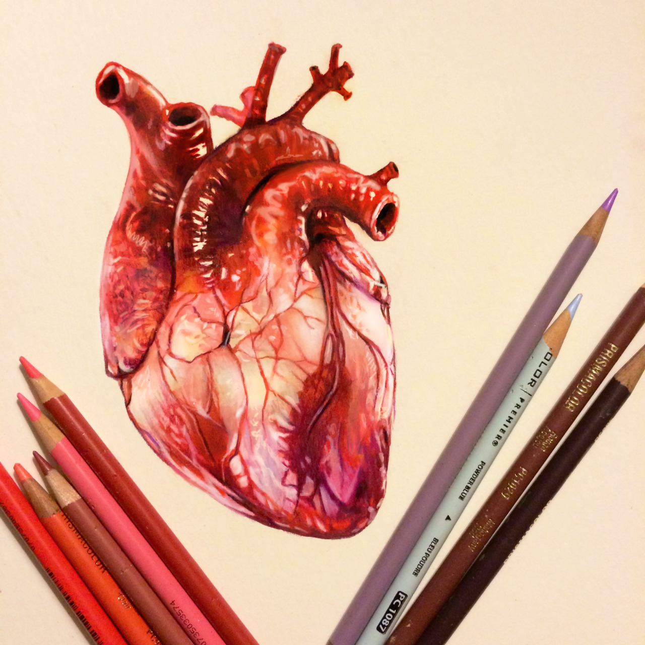 art, colored, draw and heart