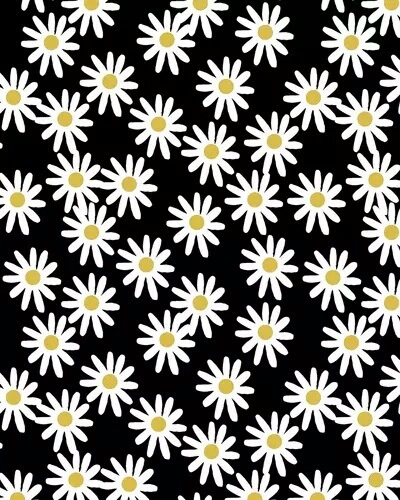 Cute flower backgrounds black and white