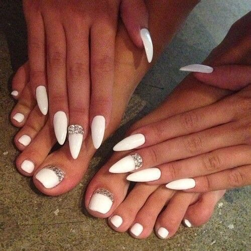 Nails Pies Blancas Uñas Image 3547992 By Marine21 On