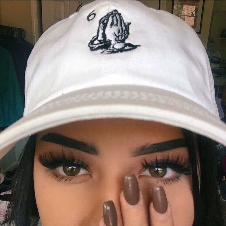 beauty, brunette, cap and eyes