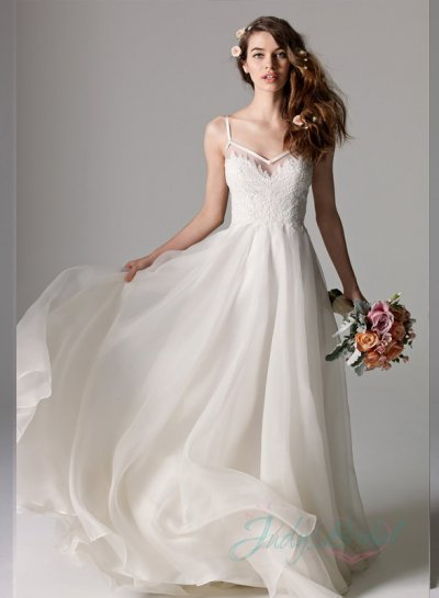 simple wedding dress and Lace bodice