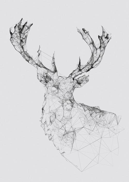 deer head drawing tumblr - photo #39