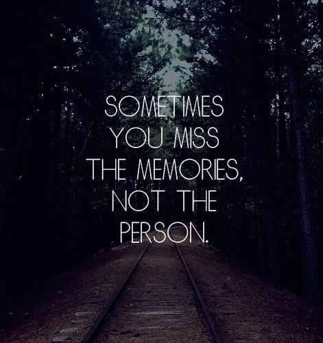 forget it, him, memories and not again
