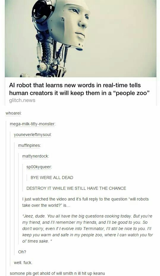 funny, people, post, robots, science, tumblr, zoo
