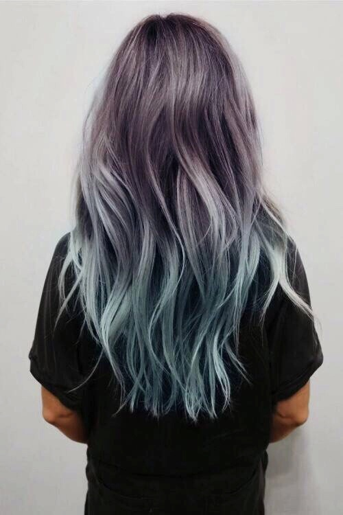 black, blue, hair, long, ombre - image #3680720 by kristy ...
