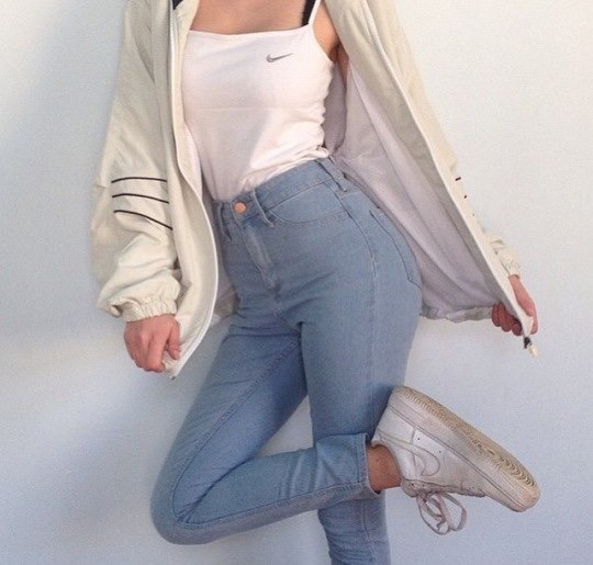 aesthetic, fashion, girl, jeans, nike , image 3694680 by