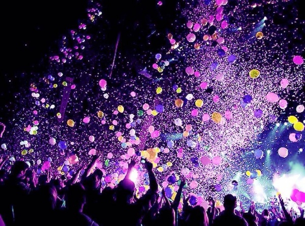 balloons, concert, confetti, party, hard night, end party