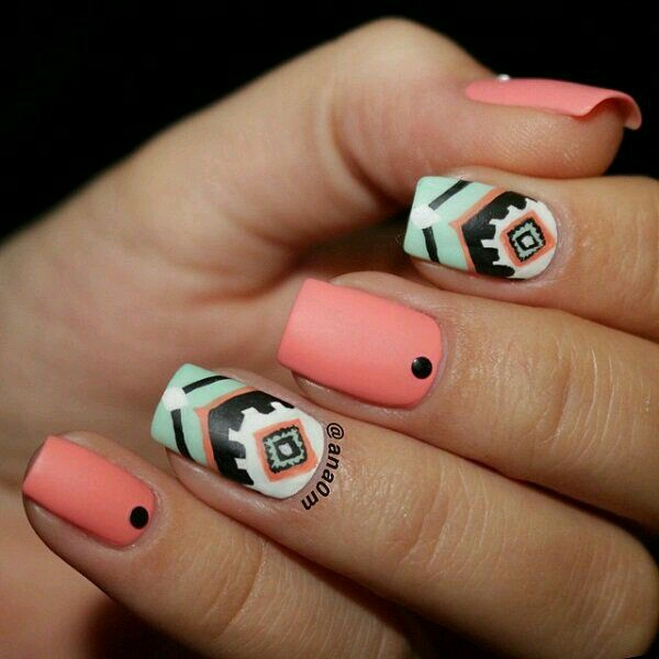 in love w these tribal nails image 3702700 by marine21
