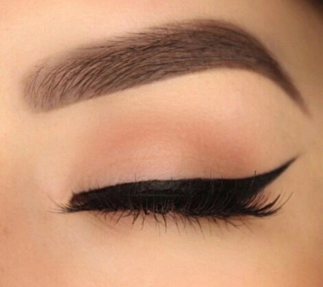 eye liner, eyebrows, lashes and makeup