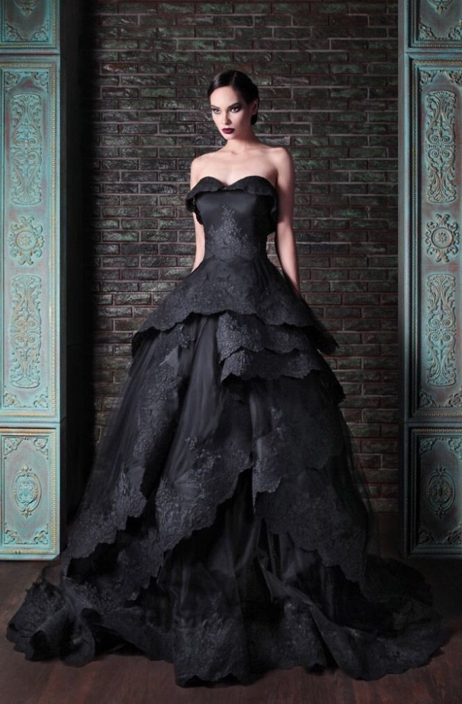 alternative, ball gown, beautiful and black