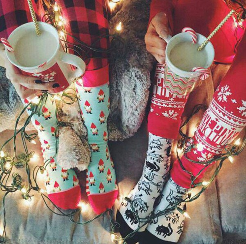 chocolate, christmas, friends, lights, socks, winter, xmas
