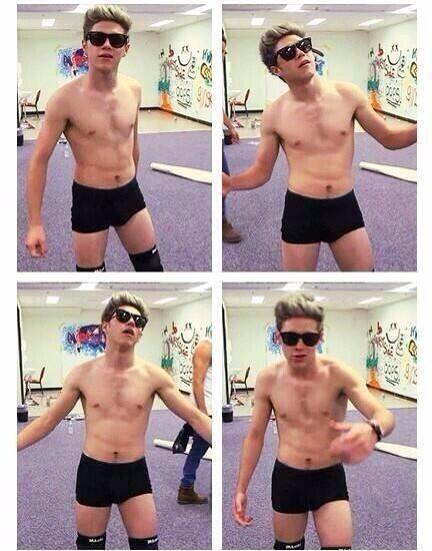 funny moments, one direction, talk dirty to me, 1dday, niall with glasses, niall shirtless, niall in boxers, november 23 2013