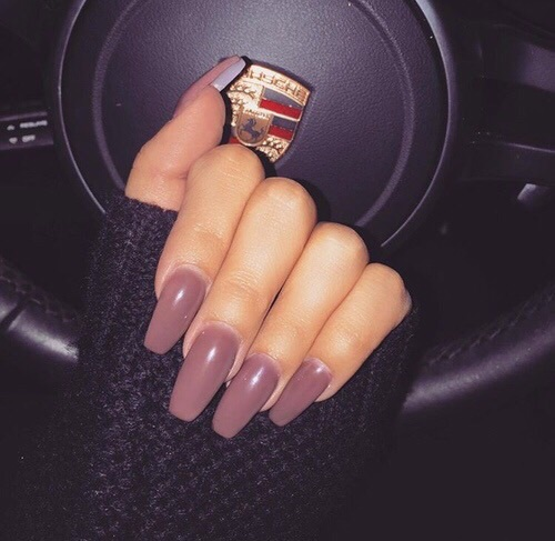 acrylics, dark, mauve, nails, neutral, porsche, pretty, tumblr