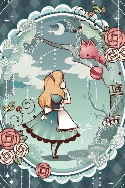 Alice in wonderland iphone wallpaper image 3878981 by - Kawaii anime iphone wallpaper ...