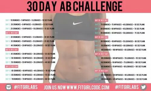 30 Days Abs Challenge Workout