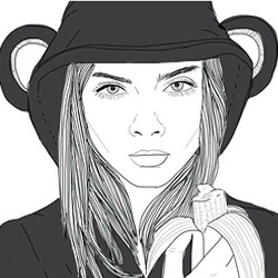 Cool Draw Girl Outlines Tumblr Image 3908830 By