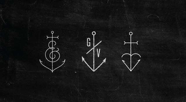 anchor, b&w, blackandwhite, bw, initial, ink, letters, ocean, sea, tatoo, tatouage, tatouages, tattoo, tattoos, signification