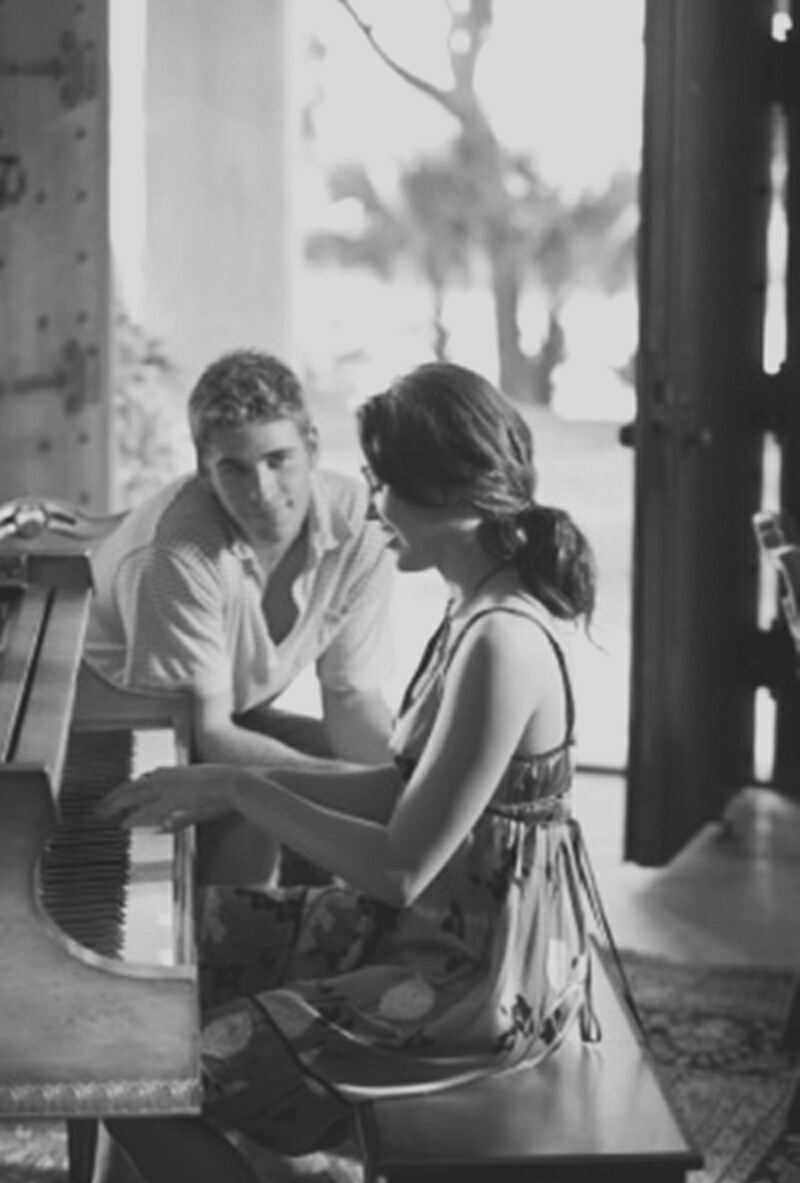 couple, couples, cute, love, piano, vintage, relationship goals, couple goals