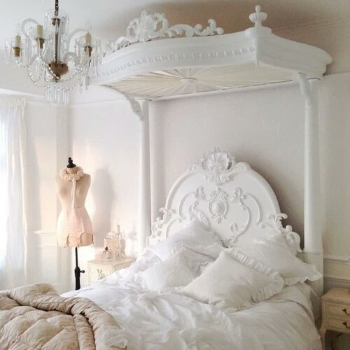 beautiful, bed, bedroom, decor, design, furniture, girl, home, mannequin, pretty, room, white