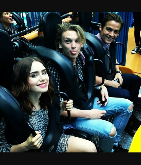 best moments, city of bones, jamie campbell bower, kevin zegers, lily collins, roller coaster