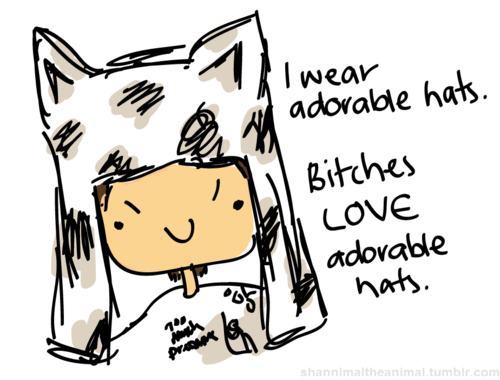 adorable, adorable hats, bitches, cartoon, hats