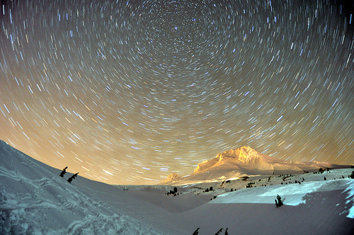 amazing, beautiful, lights, mountain, photography, pretty, snow