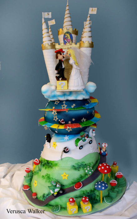 amazing, cake, castle, food, incredible, love, marip, nintendo, peach, super mario, want, wedding cake, yum