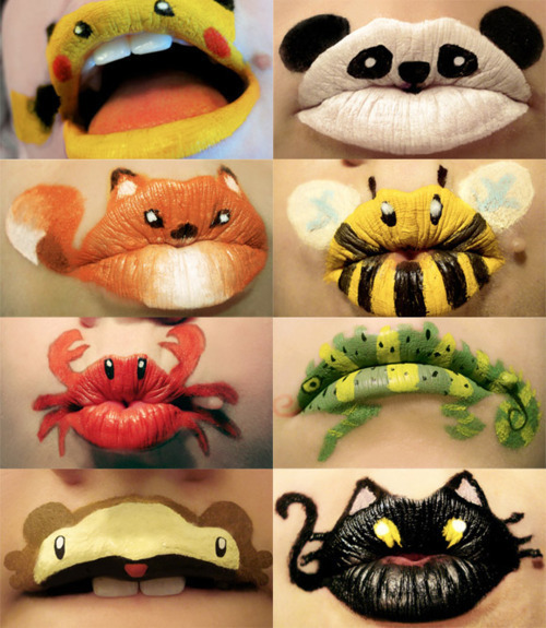 animals, bee, black, brown, cat, cool, crab, cream, cute, fantastic, fox, girly, hard, iguana, kiss, lime, lime green, lips, lipstick, makeup, monkey, nice, orange, paint, panda, pikachu, red, white, yello