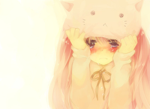 anime, anime girl, anime girl cry, cute, draw