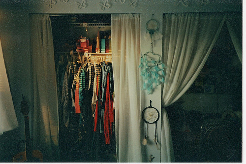 art, closet, clothes, colorful, dream, dream catcher, dream catchers, fashion, girl, hipster, hope, indie, inspiration, inspirational, life, photography, room, summer, vintage