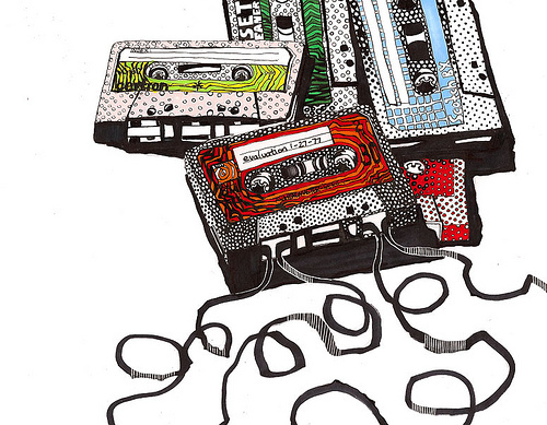 art, colors, drowing, music, tapes