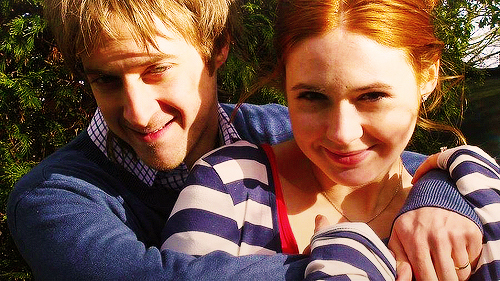 arthur darvill, couple, doctor who, friends, karen gillan