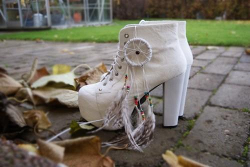 awesome, boho, cool, feather, heels, jeffery campbell, nice, pretty, shoes, white
